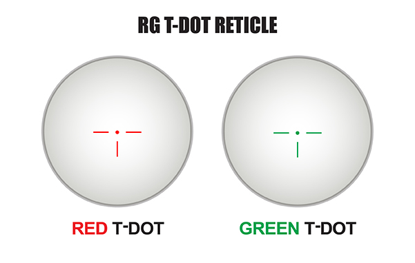 Red Green T Dot Scope With 3x Flip To Side Magnifier Combo